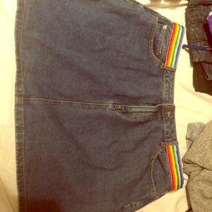 Jean Rainbow Skirt.